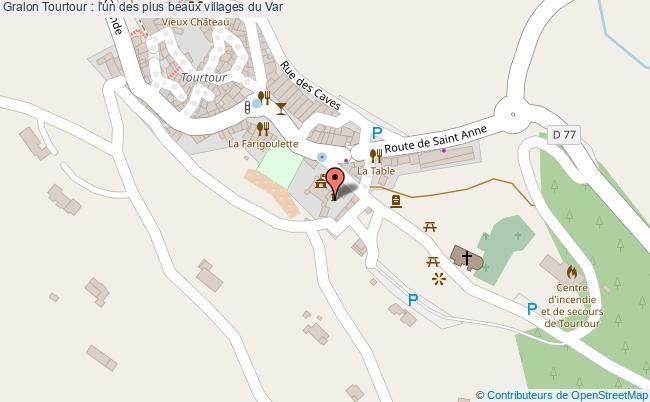 plan Tourtour : L'un Des Plus Beaux Villages Du Var