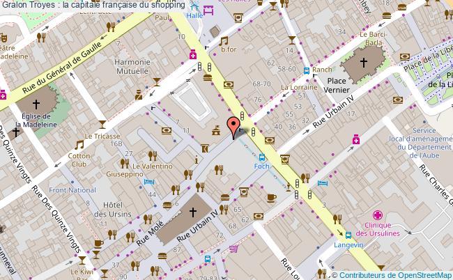 plan Troyes : La Capitale Française Du Shopping