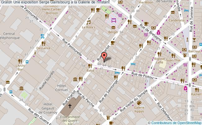 plan Une Exposition Serge Gainsbourg à La Galerie De L'instant