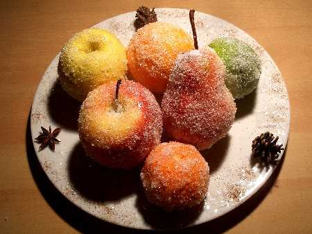 Les fruits givr s une d coration de table express - Comment faire une belle table de noel ...