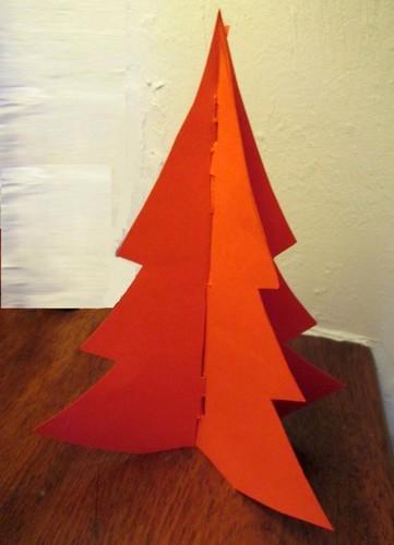 D co de table comment faire un sapin en carton - Sapin en carton a fabriquer ...