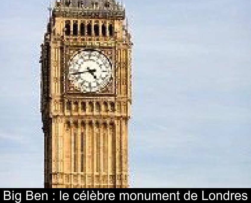 Big Ben Le Célèbre Monument De Londres