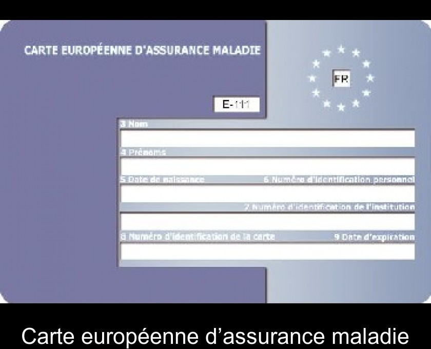 Carte Europeenne Dassurance Maladie Utilite.Carte Europeenne D Assurance Maladie