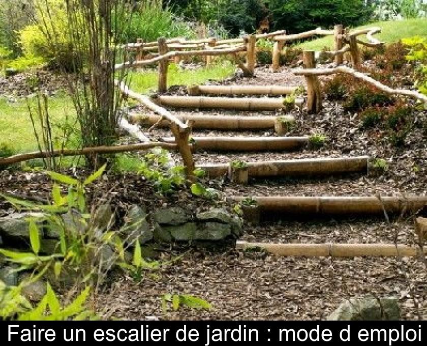 Faire un escalier de jardin : mode d\'emploi