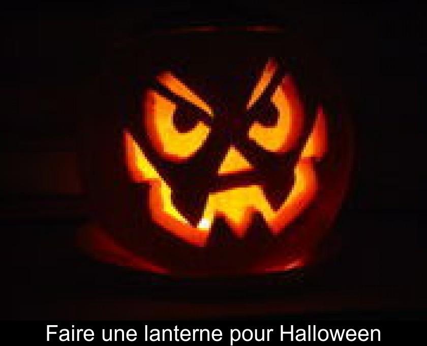 Faire Une Lanterne Pour Halloween