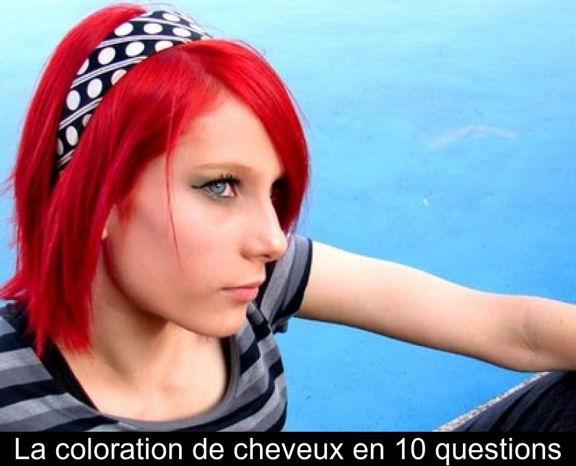 Coloration cheveux noir a rouge