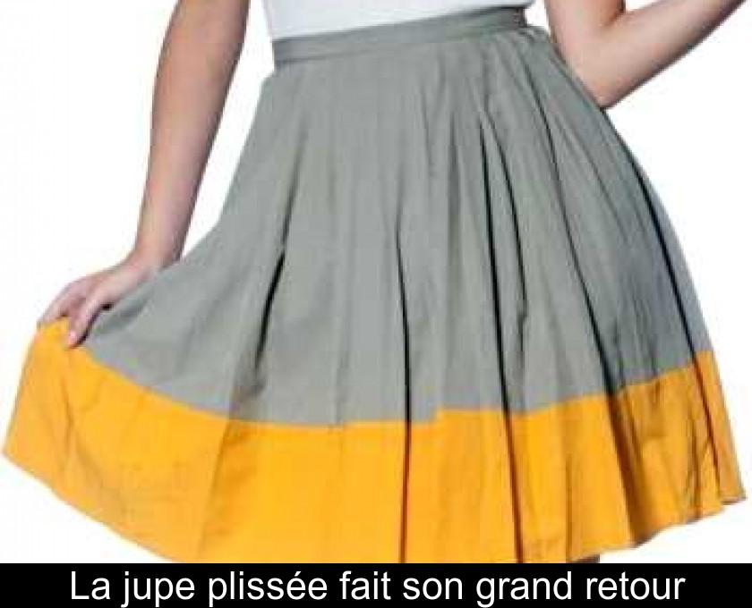 La jupe plissée fait son grand retour