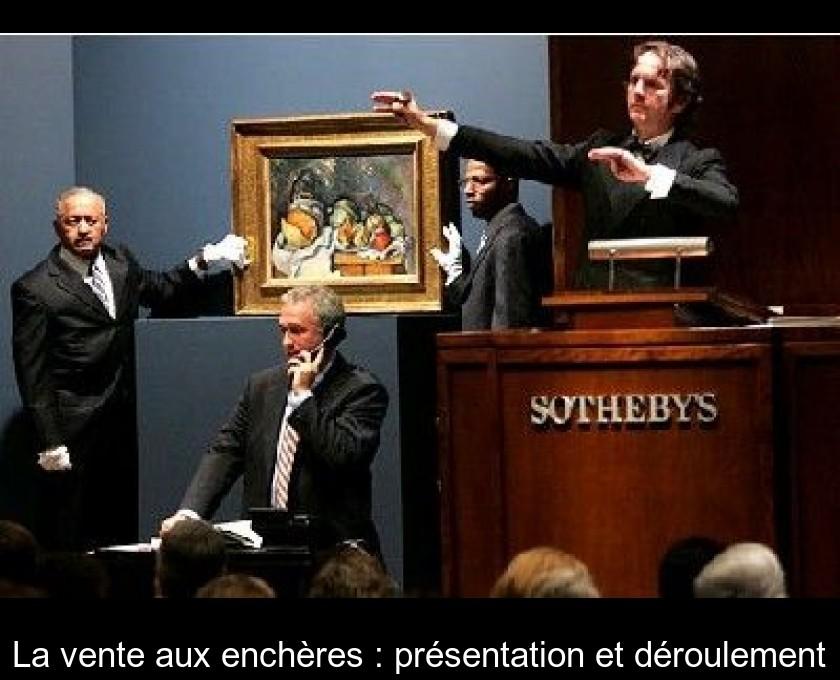 La Vente Aux Encheres Presentation Et Deroulement