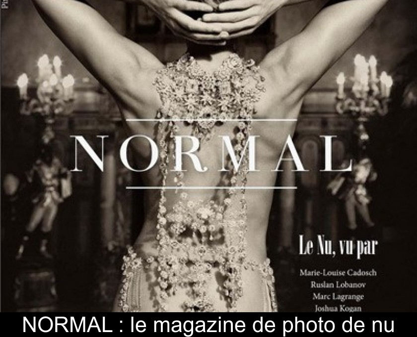 NORMAL : le magazine de photo de nu