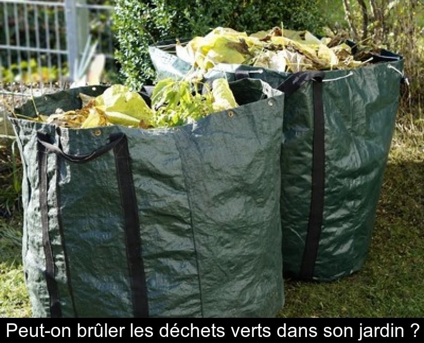 Peut-on brûler les déchets verts dans son jardin