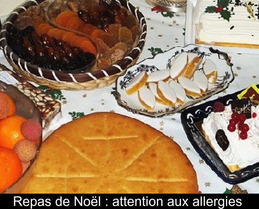 Repas de Noël : attention aux allergies