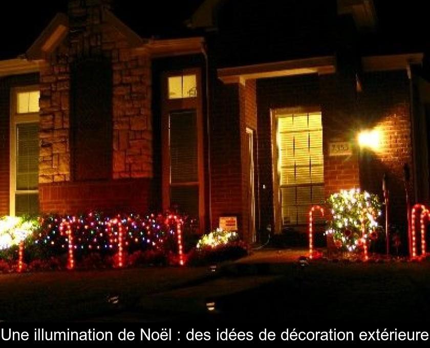 Idee decoration exterieur pour noel