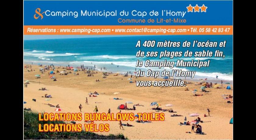 camping camp municipal de la plage du cap de l 39 homy lit et mixe. Black Bedroom Furniture Sets. Home Design Ideas