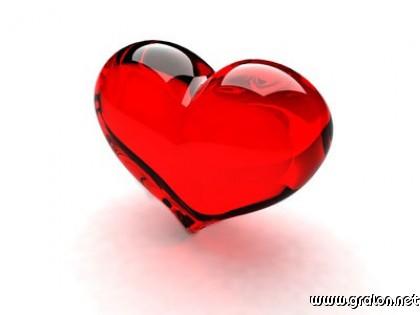 Carte coeur rouge transparent thème amour