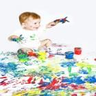 carte bebe peinture