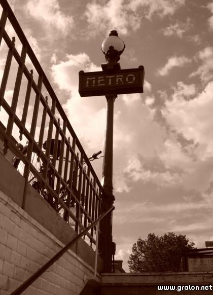 Carte metro thème lieux touristiques