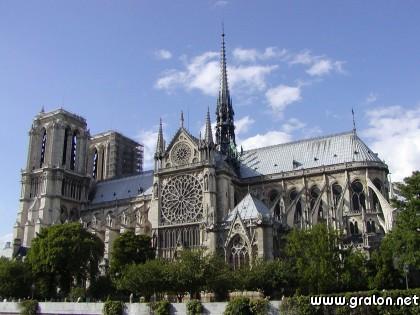 Carte notre dame de paris th me lieux touristiques for Lieux touristiques france