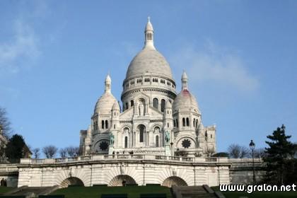 Carte sacre coeur thème lieux touristiques