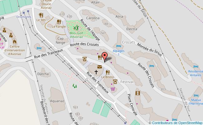 plan  Office de tourisme d'Avoriaz Avoriaz