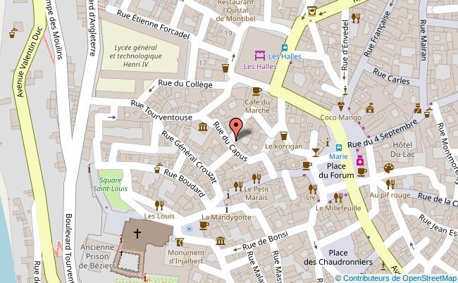 plan 9 Rue du Capus Béziers