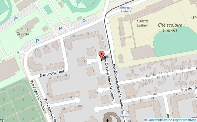 plan Association des Maisons de Quartier de Reims Reims