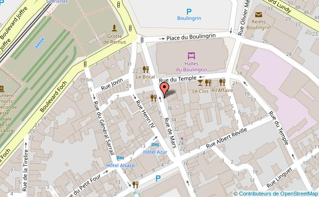 plan Au petit comptoir Reims