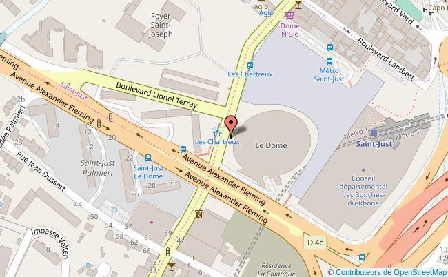 plan Avenue de Saint Just