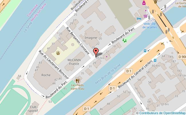 plan boulevard du parc Neuilly-sur-Seine