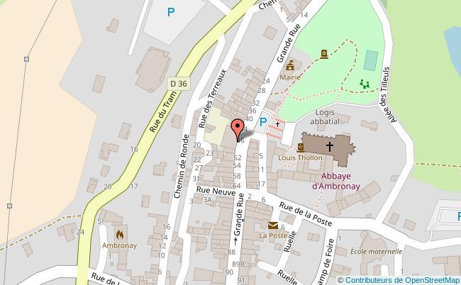 plan Centre culturel de rencontres d ambronay Ambronay