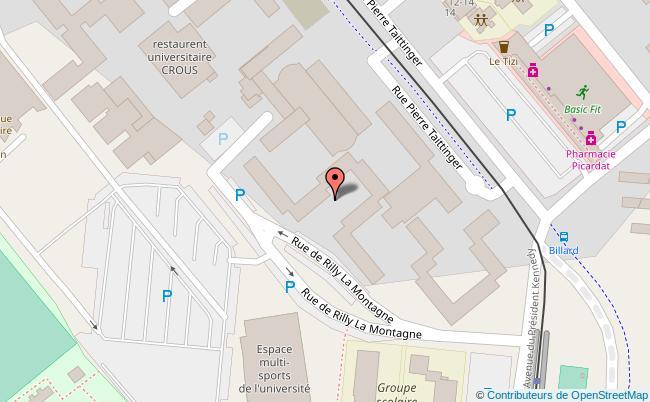 plan Centre culturel du Crous de Reims Reims