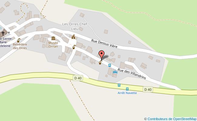 plan Centre de la station des Orres Les Orres