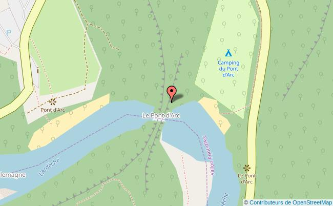 plan Centre du village de Vallon-Pont-d'Arc Vallon-Pont-d'Arc