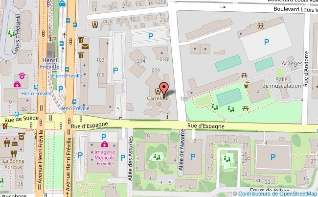 plan Centre social carrefour 18 Rennes