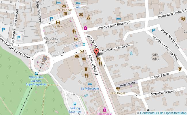 plan Centre-ville de Bagnères-de-Luchon