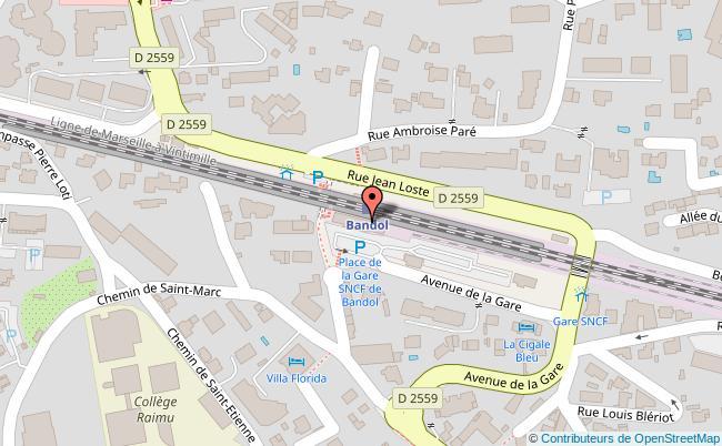 plan Centre-ville de Bandol Bandol
