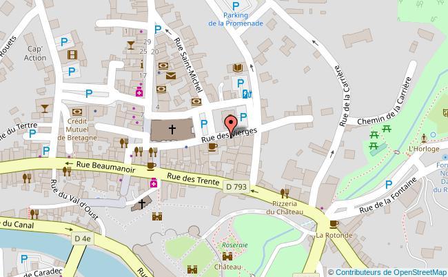 plan Centre-ville de Josselin Josselin