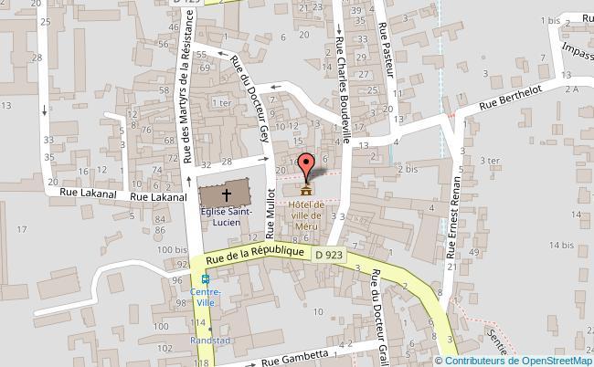 plan Centre-ville de Méru Méru