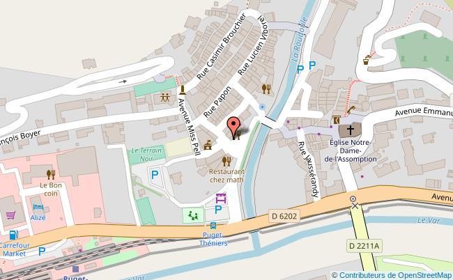 plan Centre-ville de Puget-Théniers