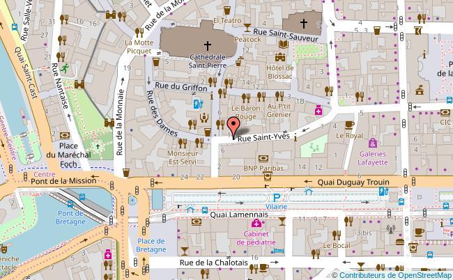 plan CHAPELLE SAINT-YVES - OFFICE DE TOURISME Rennes