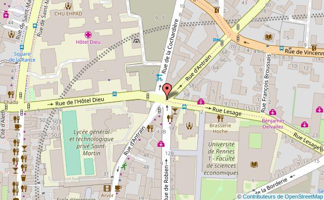 plan Galerie art et essai Rennes