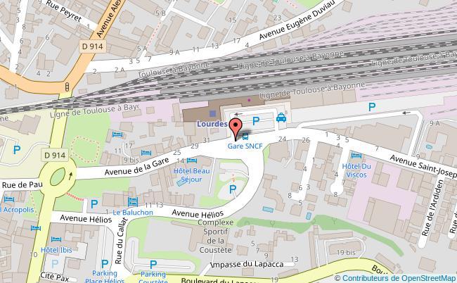 plan Gare de Lourdes
