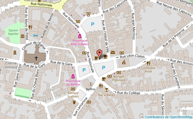 plan Hôtel de ville de Bergues Bergues