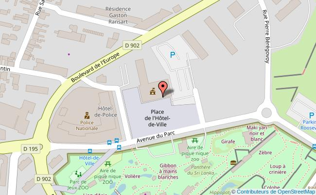 plan Hôtel de ville de Maubeuge Maubeuge