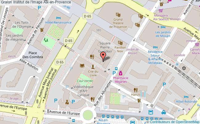plan Institut de l'Image Aix en Provence