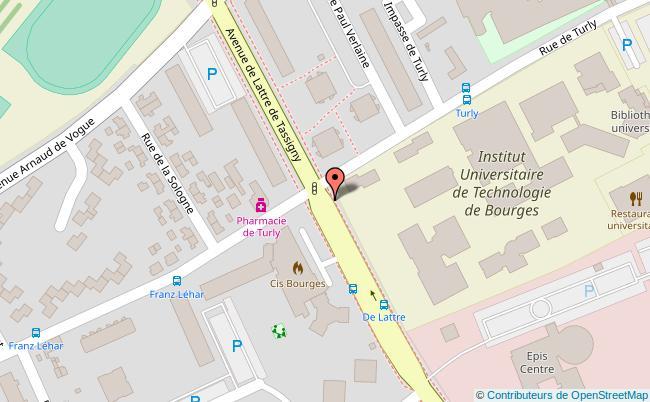 plan IUT de Bourges Bourges