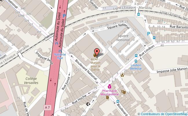 plan KLAP Maison pour la danse à Marseille Marseille