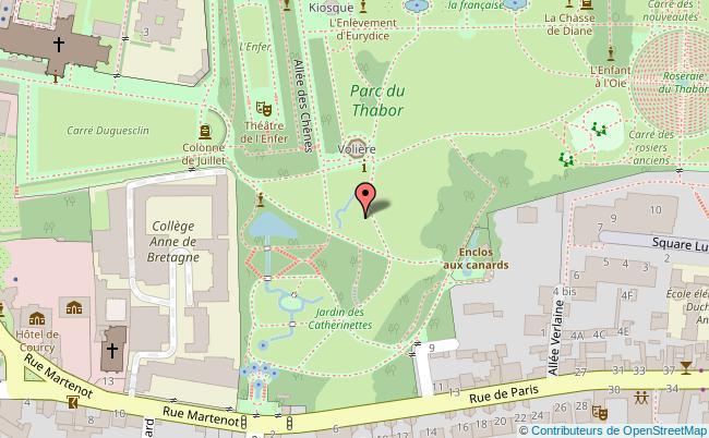 plan L'Orangerie du Thabor Rennes