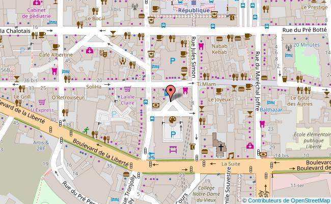 plan La Criée - Centre d'art contemporain Rennes