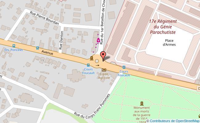 plan Le Cours Foucault Montauban