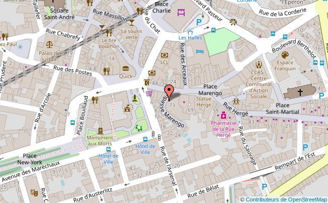 plan Le Théâtre de poche Marengo Angoulême